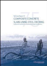 TR75 Composite concrete slabs using steel decking